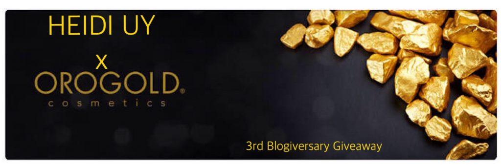 Heidi Uy x Orogold Cosmetics Blogiversary Giveaway