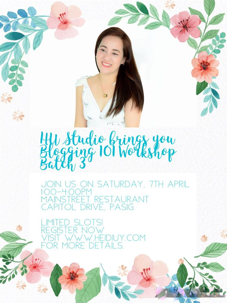 SAVE THE DATE: Blogging 101 Worskhop Batch 3